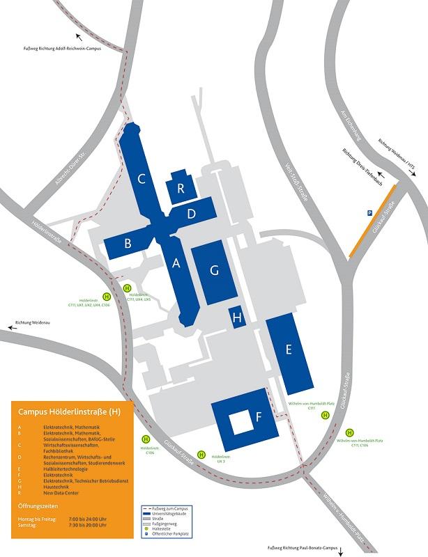 Lageplan Hoelderlinstrasse